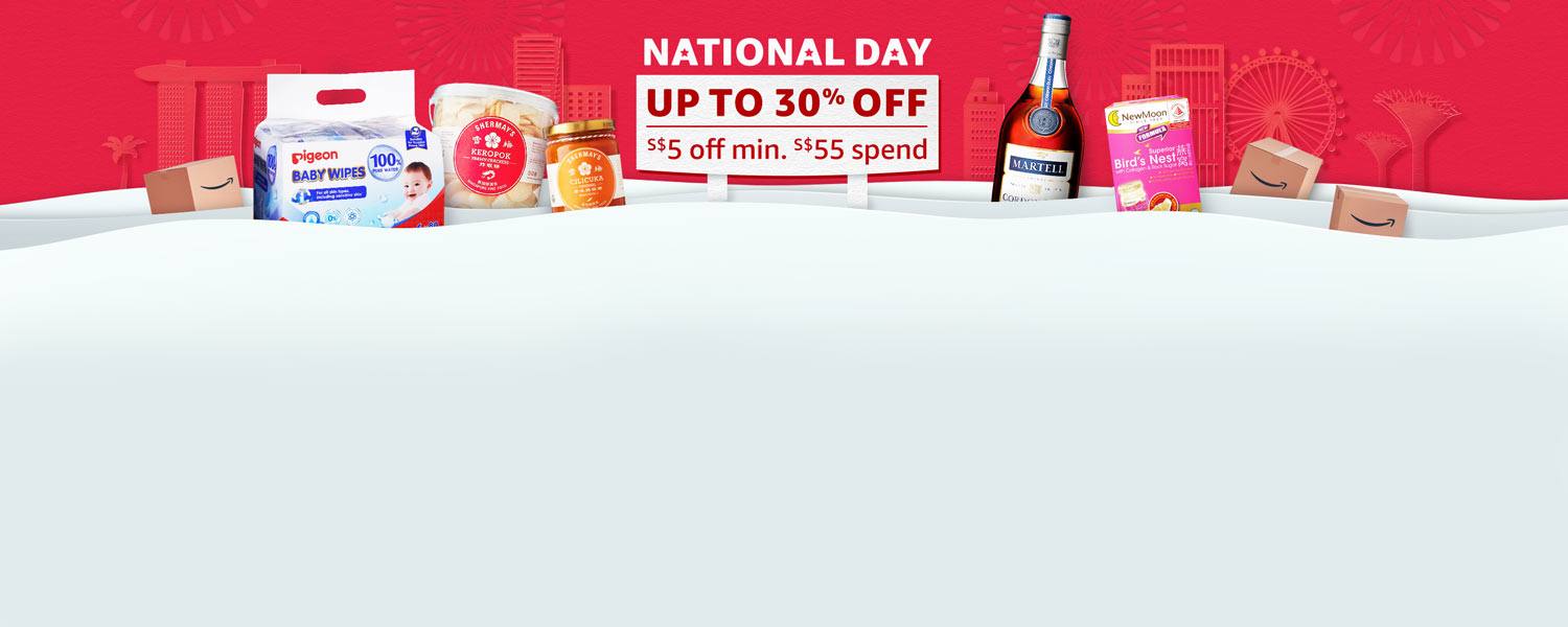 National Day Sale - Up to 30% off, with additional S$5 off with min. spend of S$55