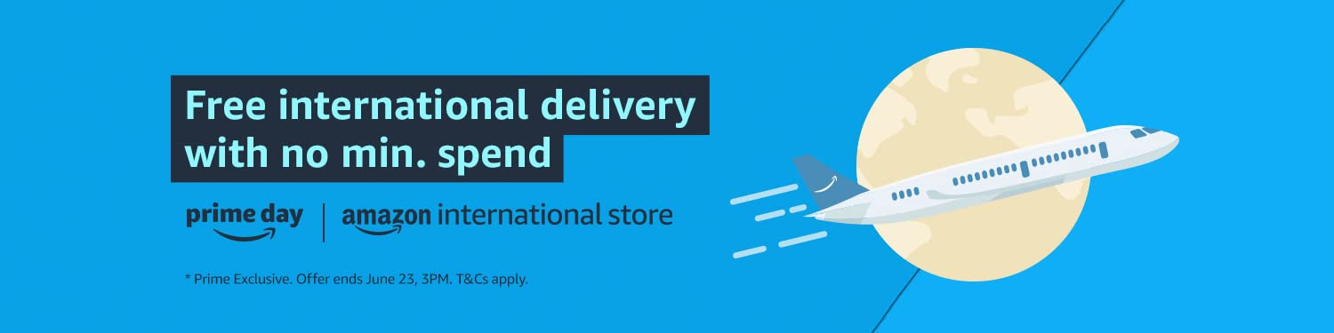 Free international delivery with no min. spend