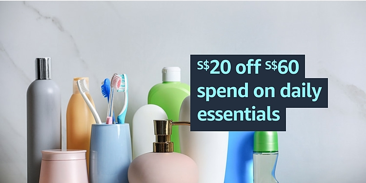 $20 off $60 spend in daily essentials in Baby, Personal Care & more