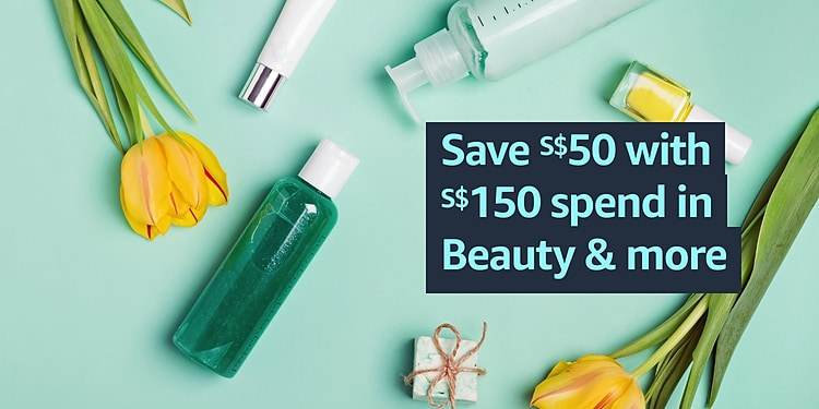 Save S$50 off S$150 spend in Beauty & more
