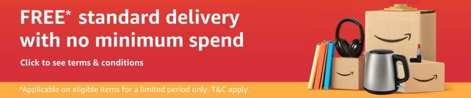 T&Cs for Free delivery with no minimum spend
