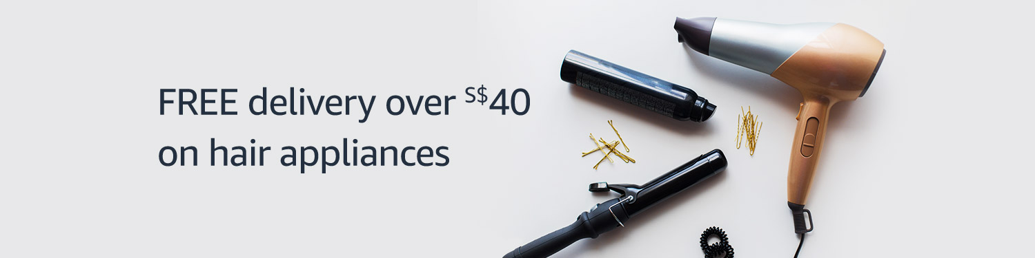 Free delivery over $40 on hair appliances