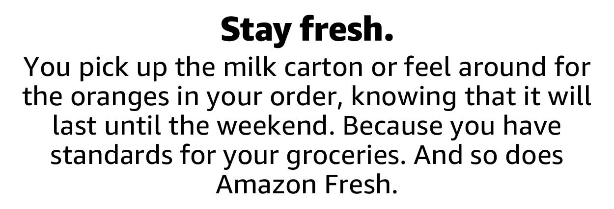 Stay fresh.