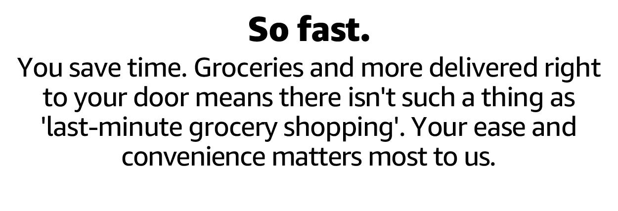 So fast.