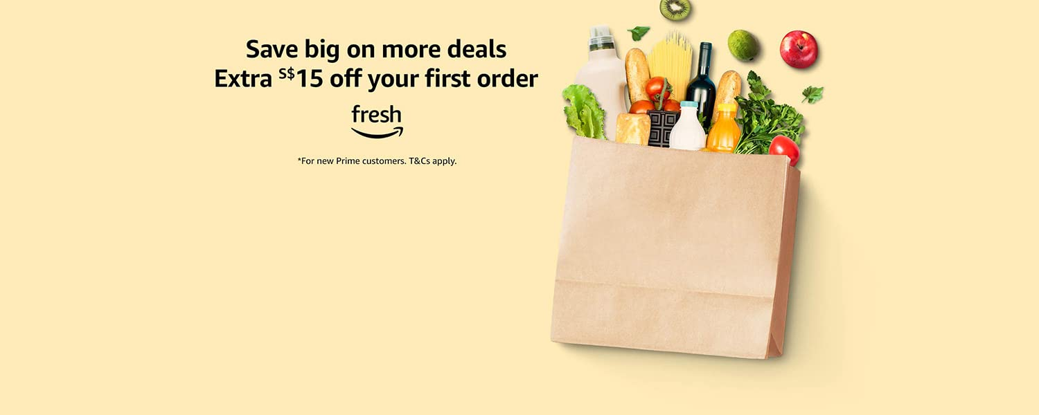 Save big on more deals plus extra S$15 off your first Fresh order