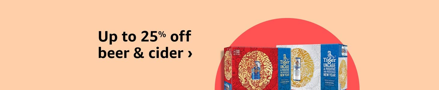 Up to 25% on selected beer & cider