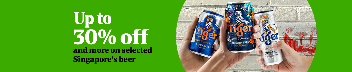 Up to 30% off and more on selected Singapore's Beer