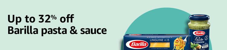 Up to 32% off Barilla pasta & sauce
