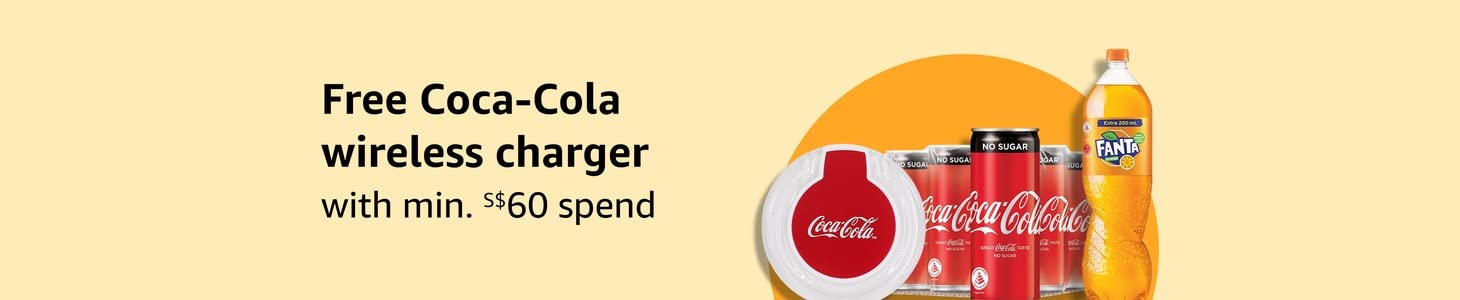 FREE Wireless charger with min. S$60 spend on selected Coca-Cola brands products