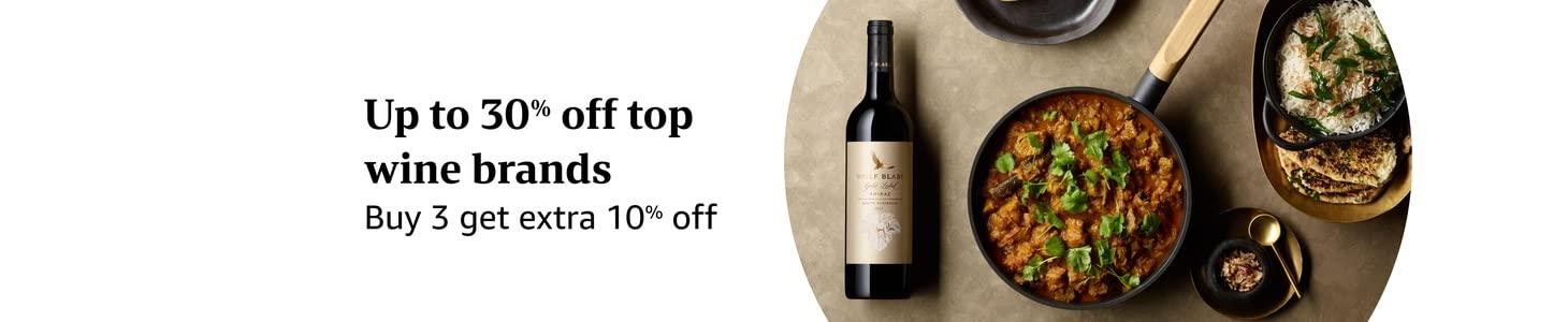 Up to 30% off top wine brands Buy 3 get extra 10% off