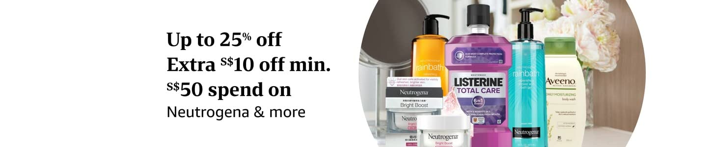 Up to 25% off Extra S$10 off min. S$50 spend