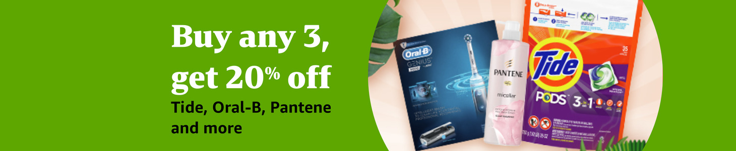 Buy any 3, get additional 20% off Tide, Oral-B, Pantene and more