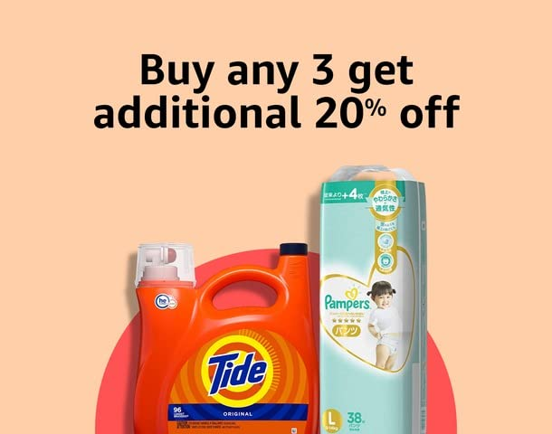 Buy any 3 get additional 20% off