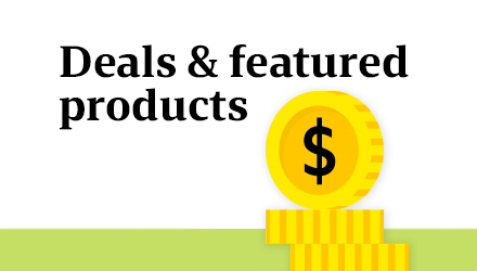 Deals & featured products