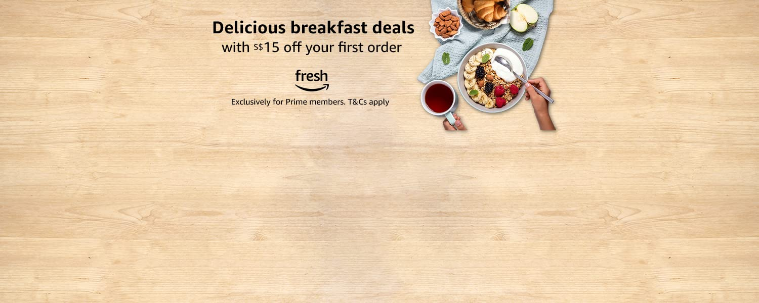 Delicious breakfast deals with S$15 off on your first Fresh order