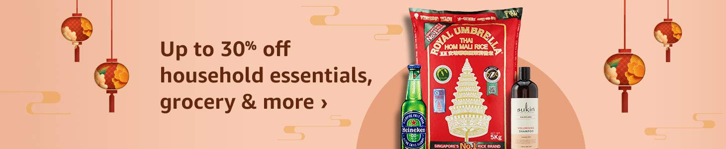 Up to 30% off household essentials, grocery & more
