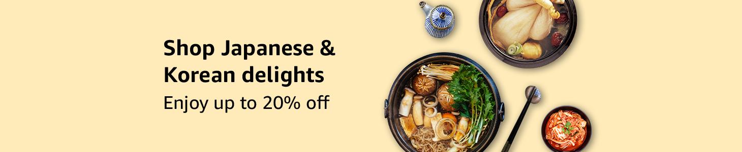 Shop Japanese & Korean delights - Enjoy up to 20% off