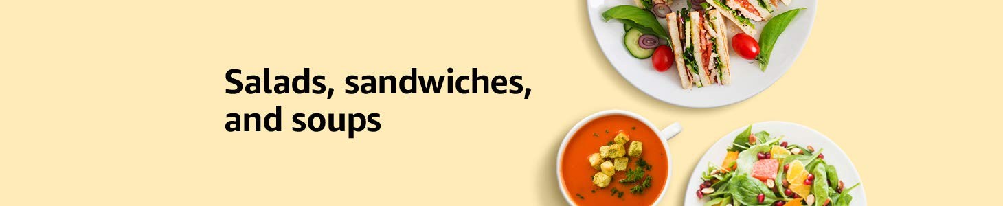 Salads, sandwiches and soups