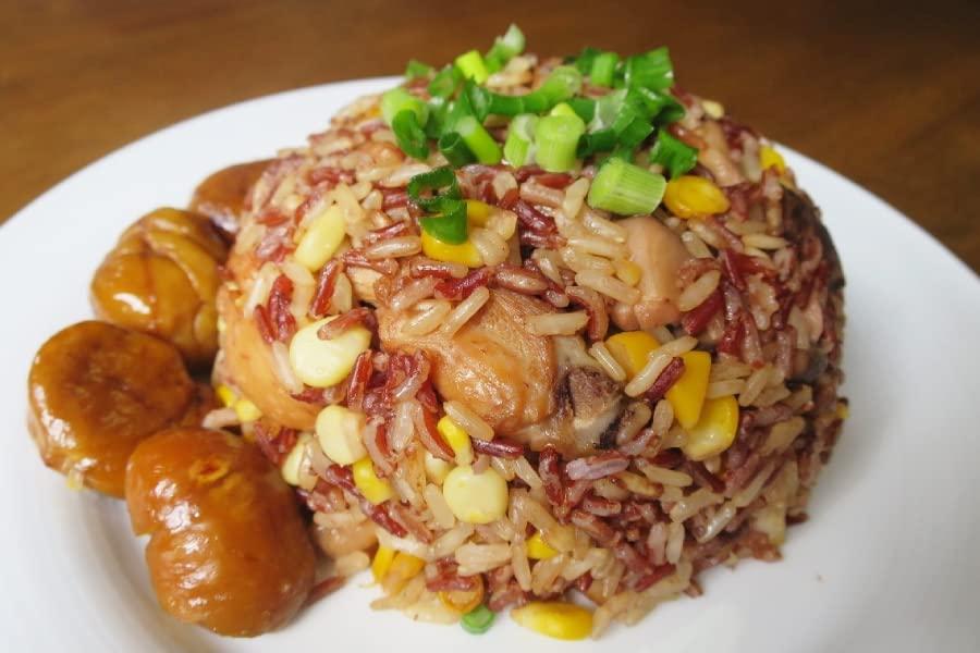 Chestnut Mushroom Chicken Rice