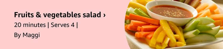 Mixed Fruits & Vegetable Salad with Orange Dressing