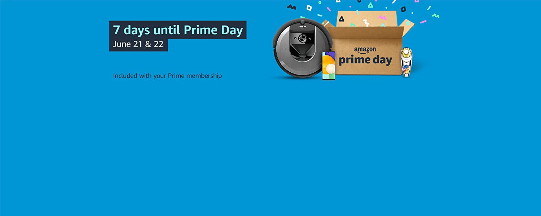 7 days until Prime Day.