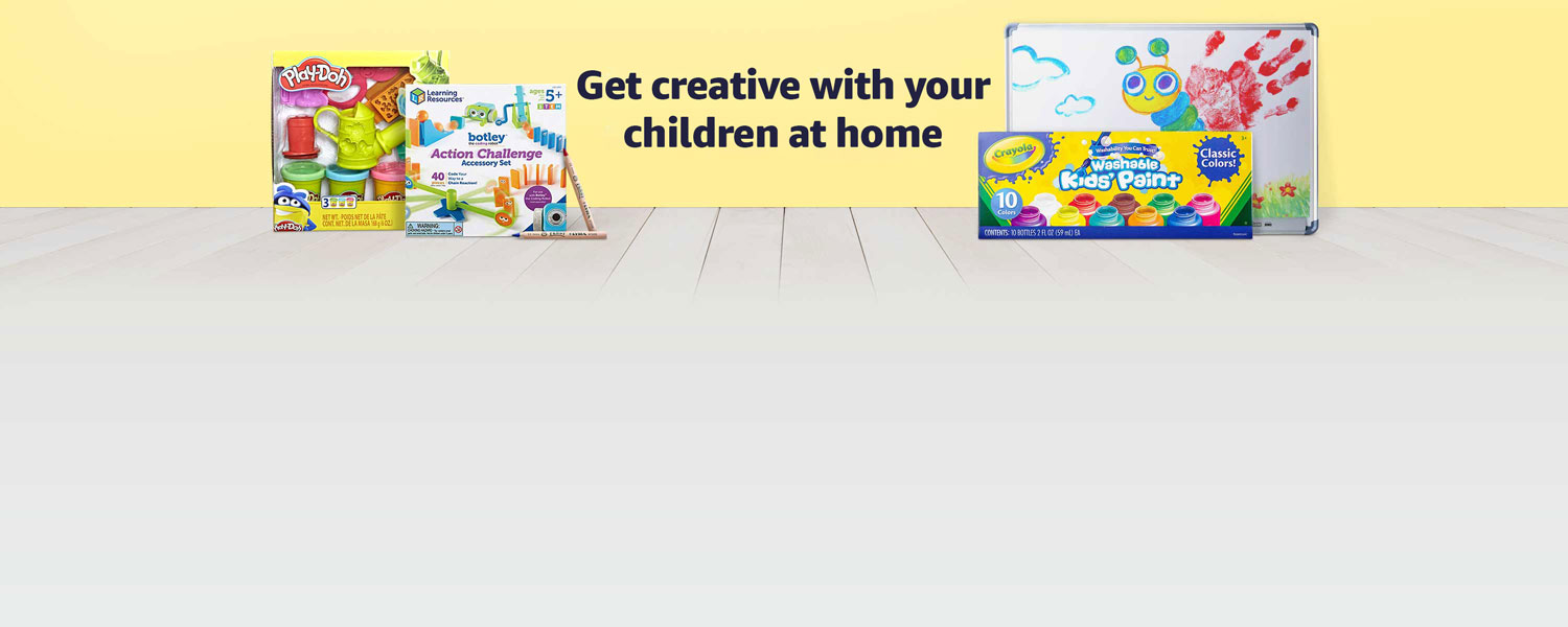 Get creative with your children at home
