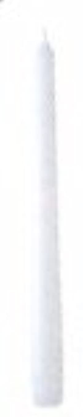 曇った冷ややかな中国10インチテーパーキャンドル(ホワイト)