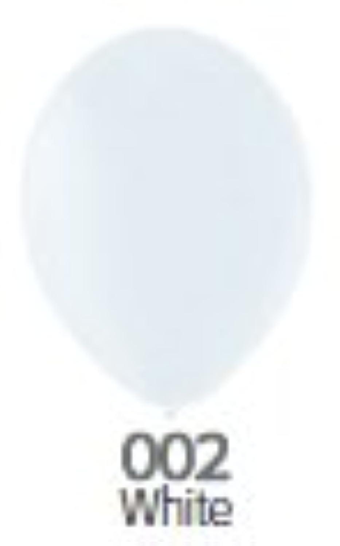 9インチ ゴム風船 20個入 パステル White(ホワイト) ベルバルバルーン ベルギー製 天然ゴム100%