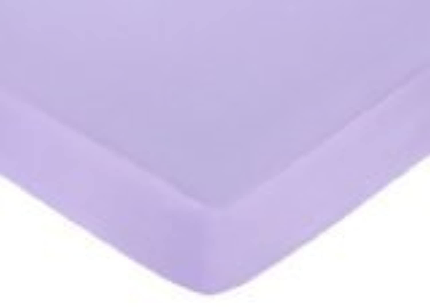 Pink and Purple Butterfly Fitted Crib Sheet for Baby and Toddler Bedding Sets by Sweet Jojo Designs - Solid Purple [並行輸入品]