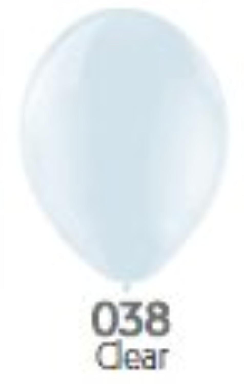9インチ ゴム風船 20個入 クリスタル Clear(クリアー) ベルバルバルーン ベルギー製 天然ゴム100%