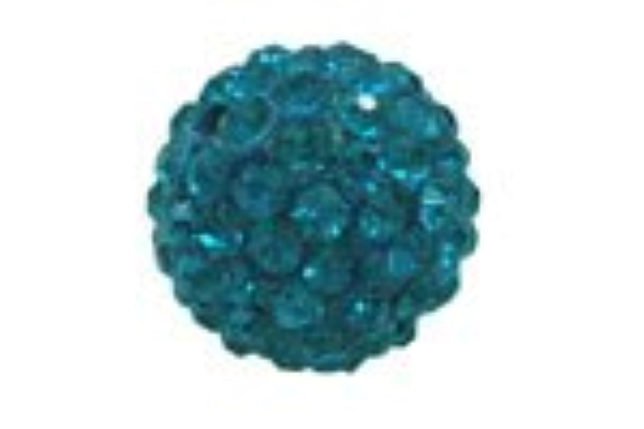 信念農場大学キラキラクリスタルボール ブルー6mm (片穴)