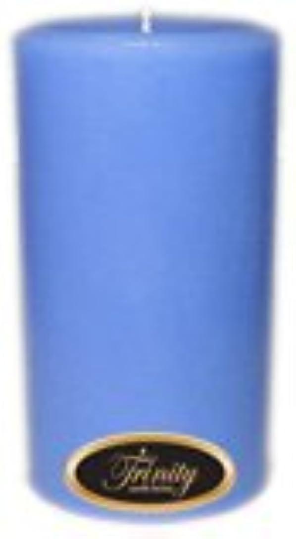 脱獄紛争フラフープTrinity Candle工場 – ベビーパウダー – ブルー – Pillar Candle – 3 x 6