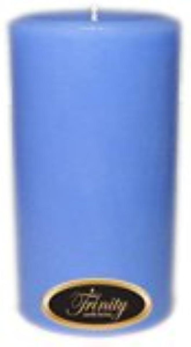 魔法潜む織るTrinity Candle工場 – ベビーパウダー – ブルー – Pillar Candle – 3 x 6