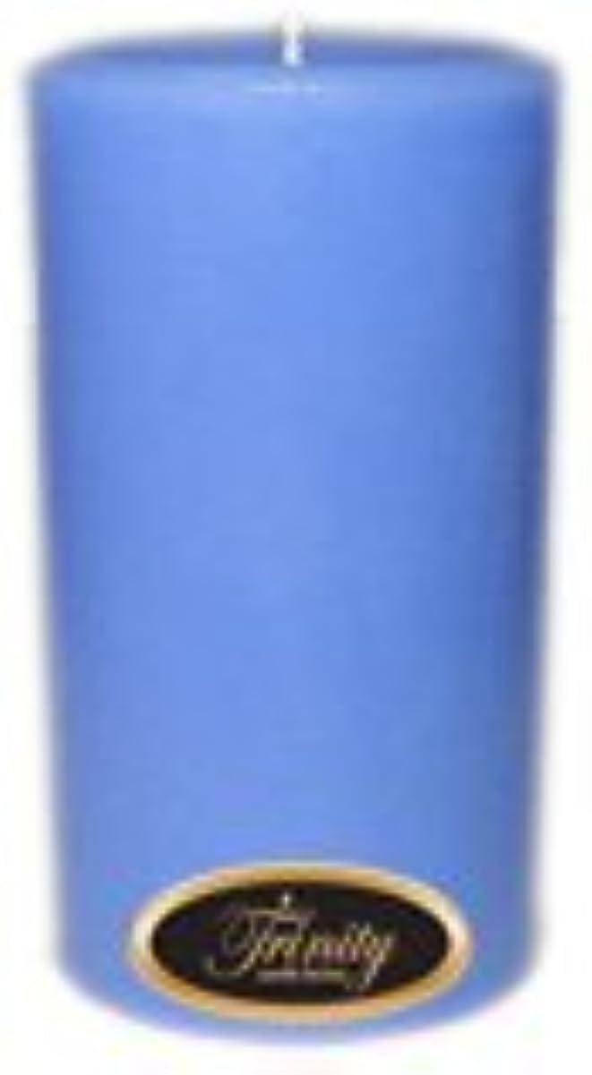 税金名門精算Trinity Candle工場 – ベビーパウダー – ブルー – Pillar Candle – 3 x 6