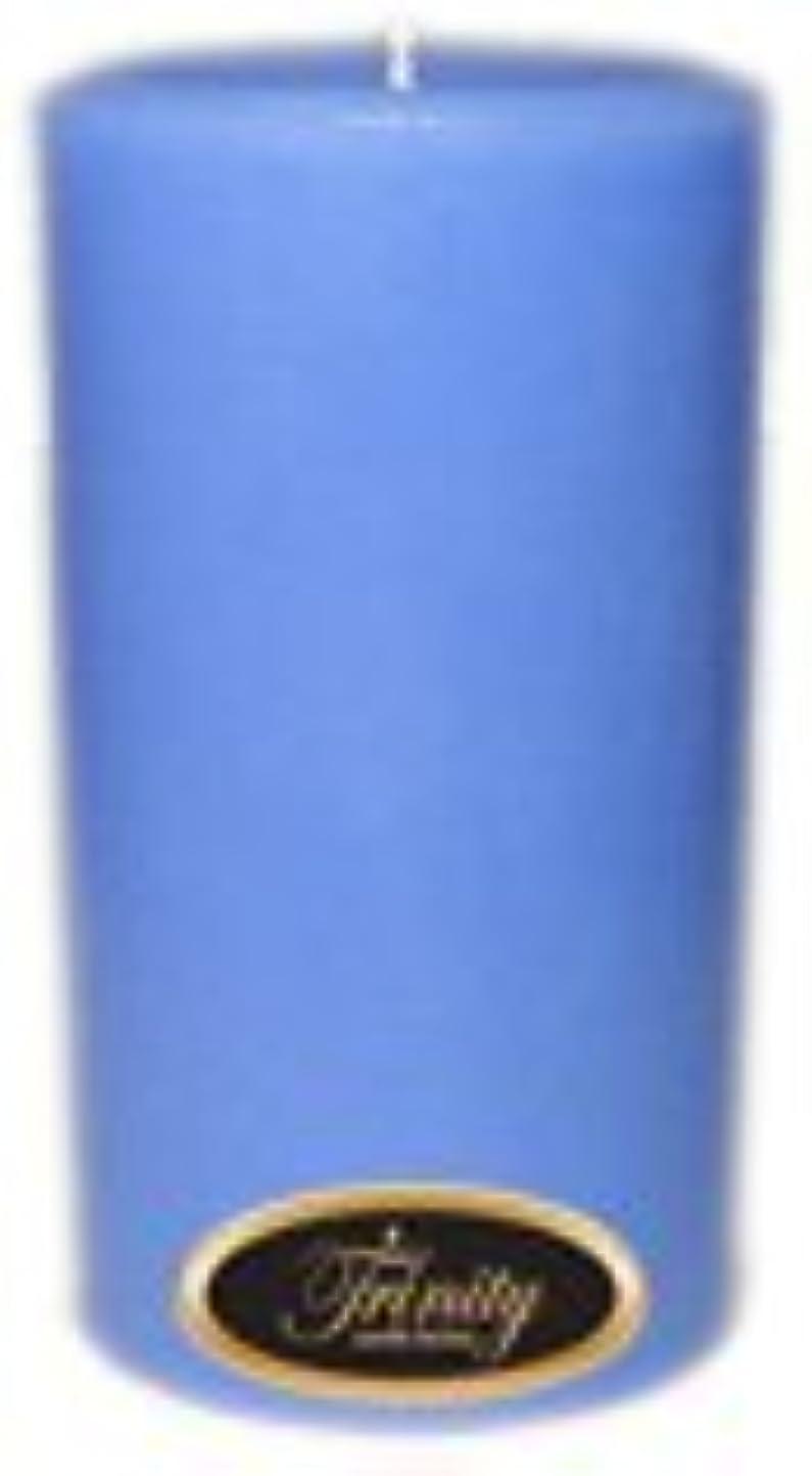 悲しむ改善するより平らなTrinity Candle工場 – ベビーパウダー – ブルー – Pillar Candle – 3 x 6