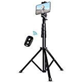 """Selfie Stick Tripod, UBeesize 51"""" Extendable Tripod Stand with Bluetooth Remote for iPhone & Android Phone, Heavy Duty Aluminum, Lightweight (B07NWC3L95) 
