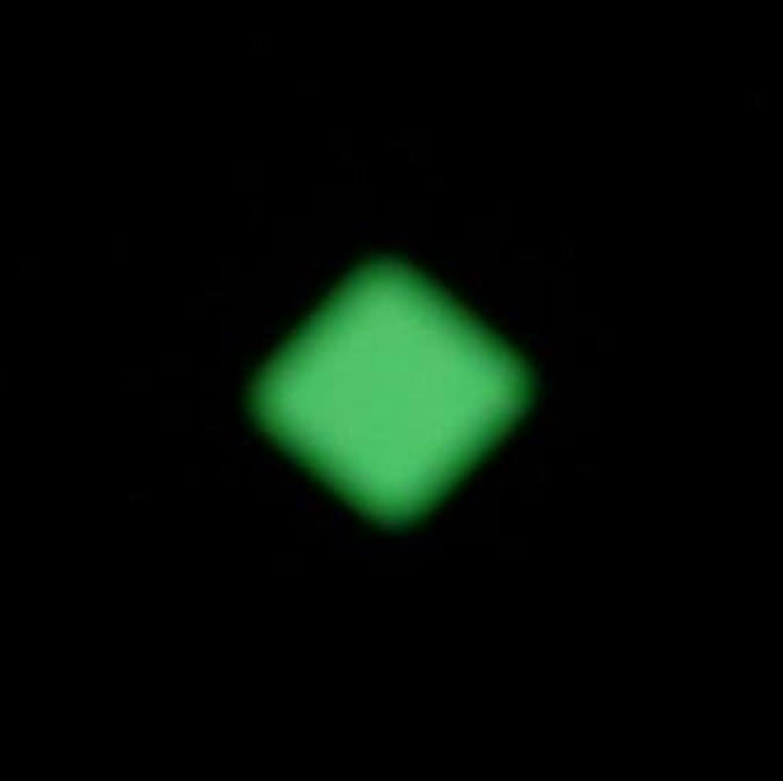 損傷信じる間隔夜の暗闇で光るネイルシール【ルミシール】ひし形 1シート9枚入