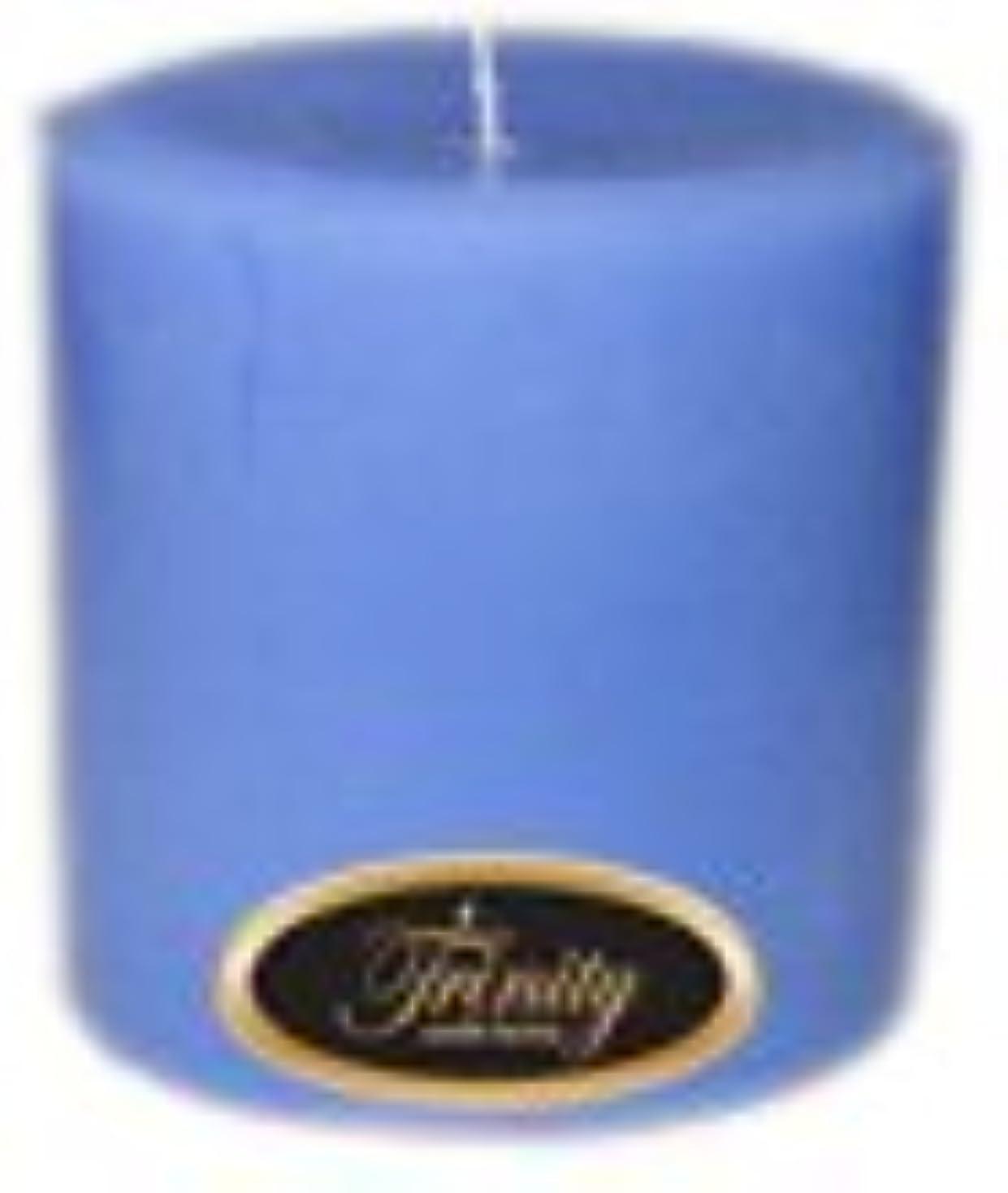 崇拝する通行料金銀Trinity Candle工場 – ベビーパウダー – ブルー – Pillar Candle – 4 x 4