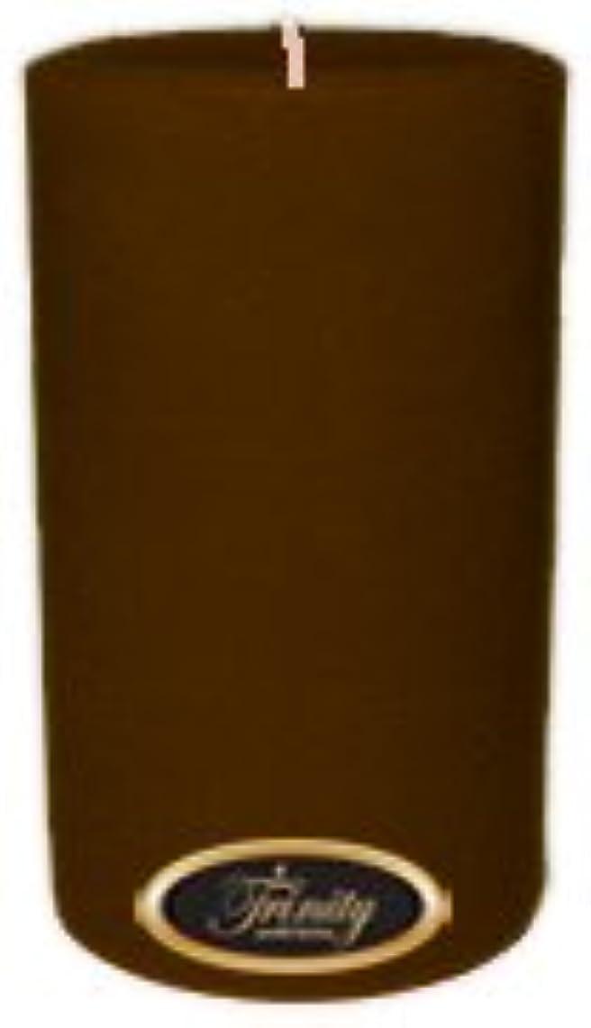日食成功適応的Trinity Candle工場 – カプチーノ – Pillar Candle – 4 x 6