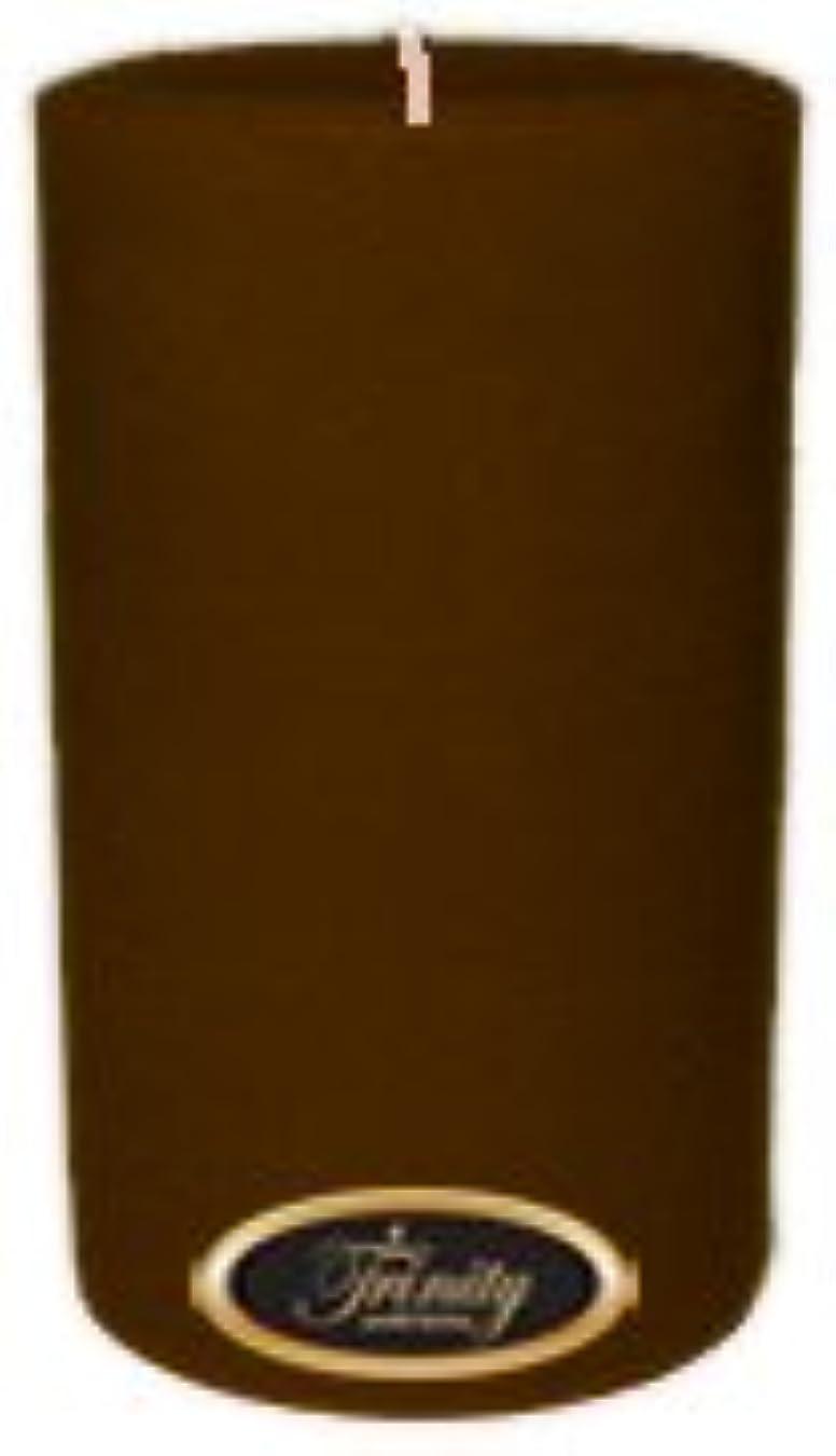 もっと少なく無駄なトロリーTrinity Candle工場 – カプチーノ – Pillar Candle – 4 x 6