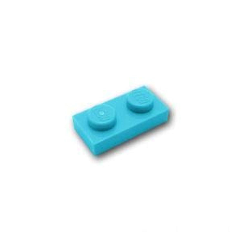 レゴブロック ばら売りパーツ プレート 1 x 2:[Md,Azure / ミディアムアズール] [並行輸入品]