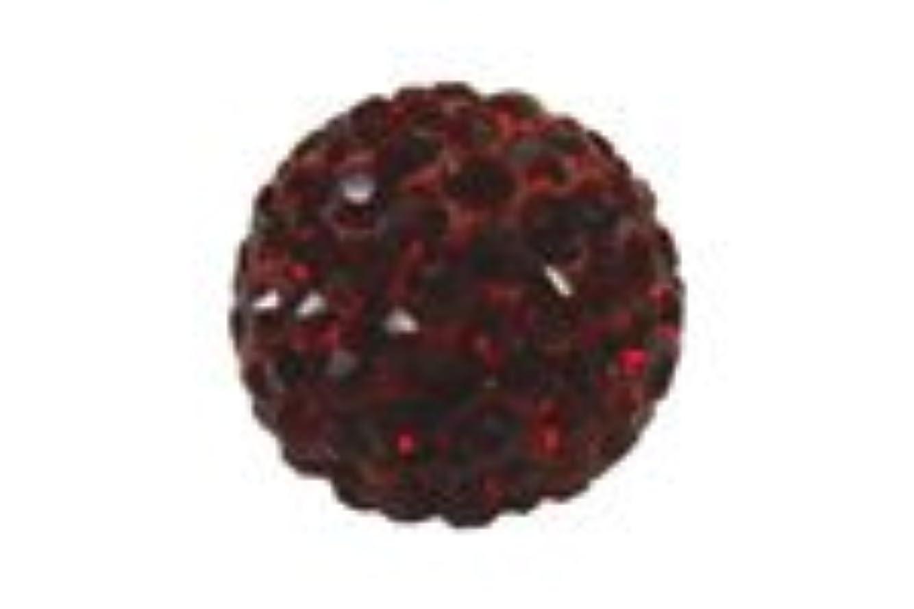 シールロンドントーナメントキラキラクリスタルボール ルビー6mm (片穴)
