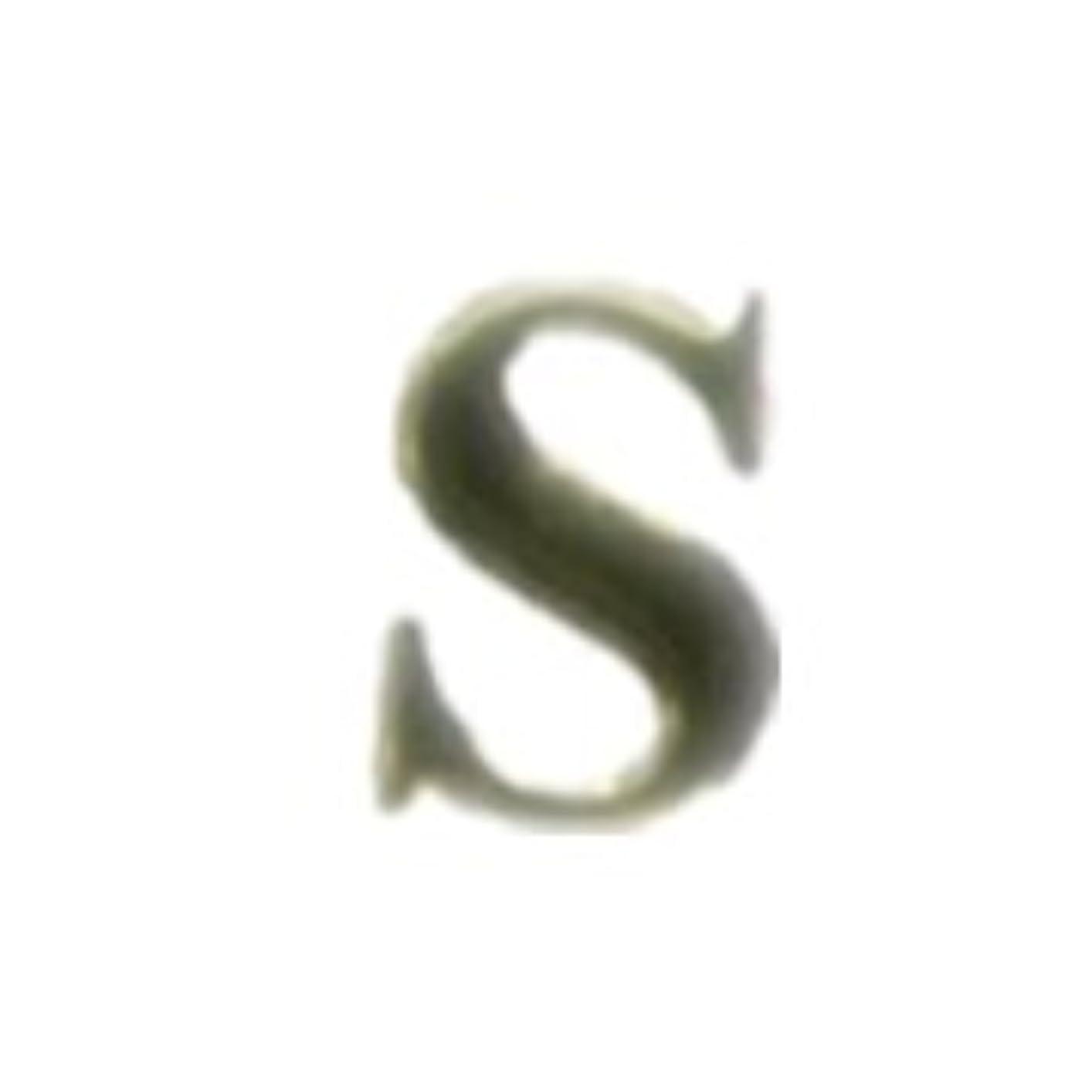 バン懐疑的長さメタルパーツ 5枚【S, ゴールド($19)】イニシャルパーツ ゴールド ローマ字 大文字 英語 ネイルアート デザインパーツ ネイルアート(S, ゴールド)