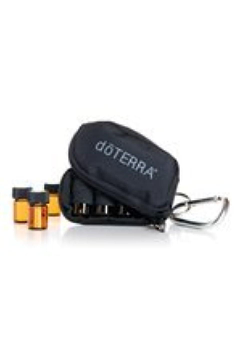 荒廃するギターおなじみのdoTERRAドテラ ミニ ボトル ケース ブラック ミニボトル 2ml 8本 精油 エッセンシャルオイル 携帯ケース ポーチ 黒