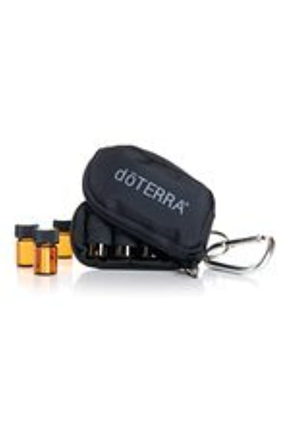 最大化する相反する賞doTERRAドテラ ミニ ボトル ケース ブラック ミニボトル 2ml 8本 精油 エッセンシャルオイル 携帯ケース ポーチ 黒