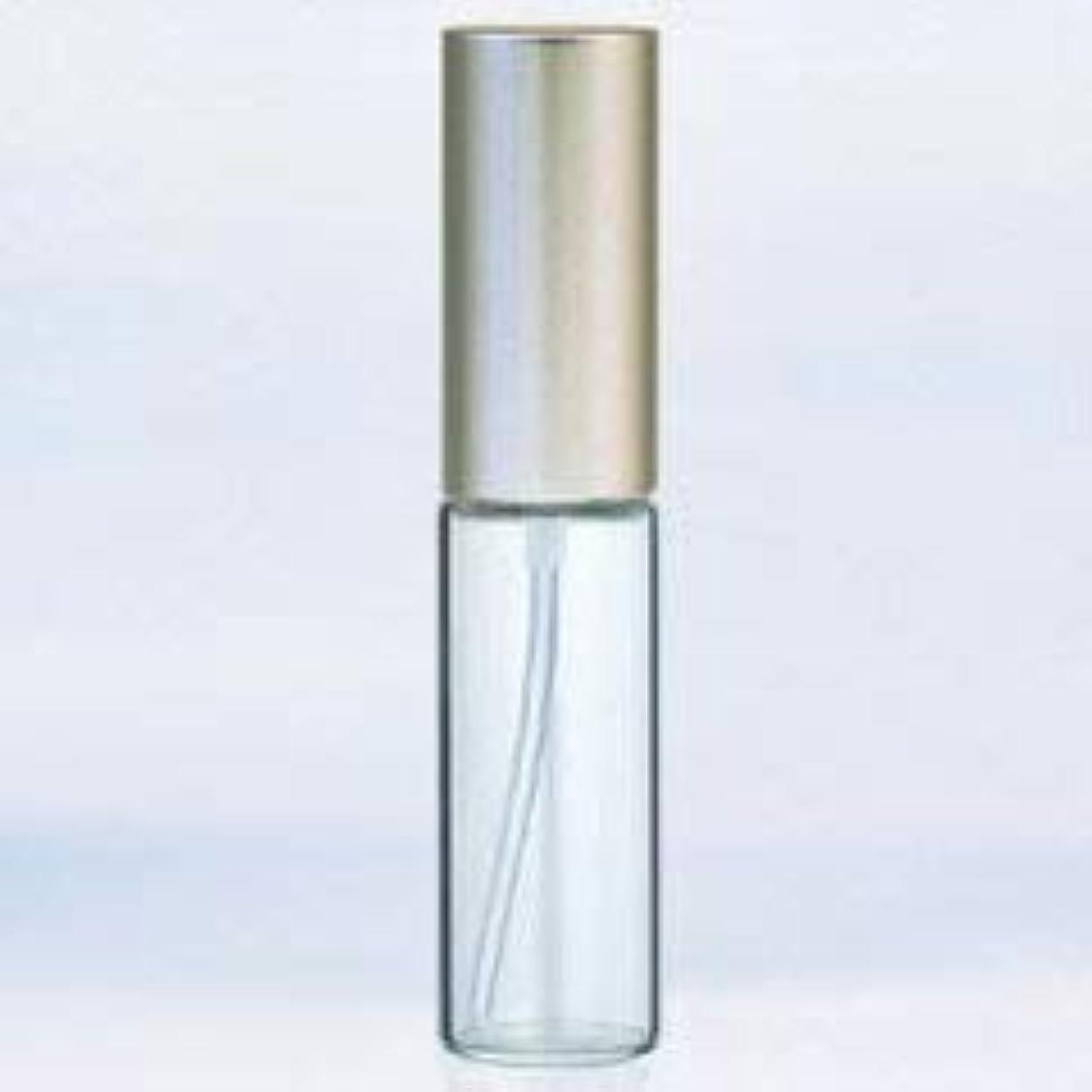 ステレオタイプスロット気味の悪い【ヤマダアトマイザー】グラスアトマイザー プラスチックポンプ 無地 アルミキャップ シルバーつや消し 10ml 6204