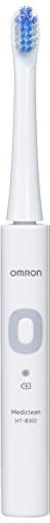 刺繍ストライド東方オムロン 音波式電動歯ブラシ HT-B302 HT-B302-W ホワイト