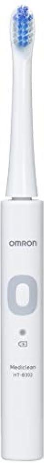 写真を撮る悪名高い理容室オムロン 音波式電動歯ブラシ HT-B302 HT-B302-W ホワイト