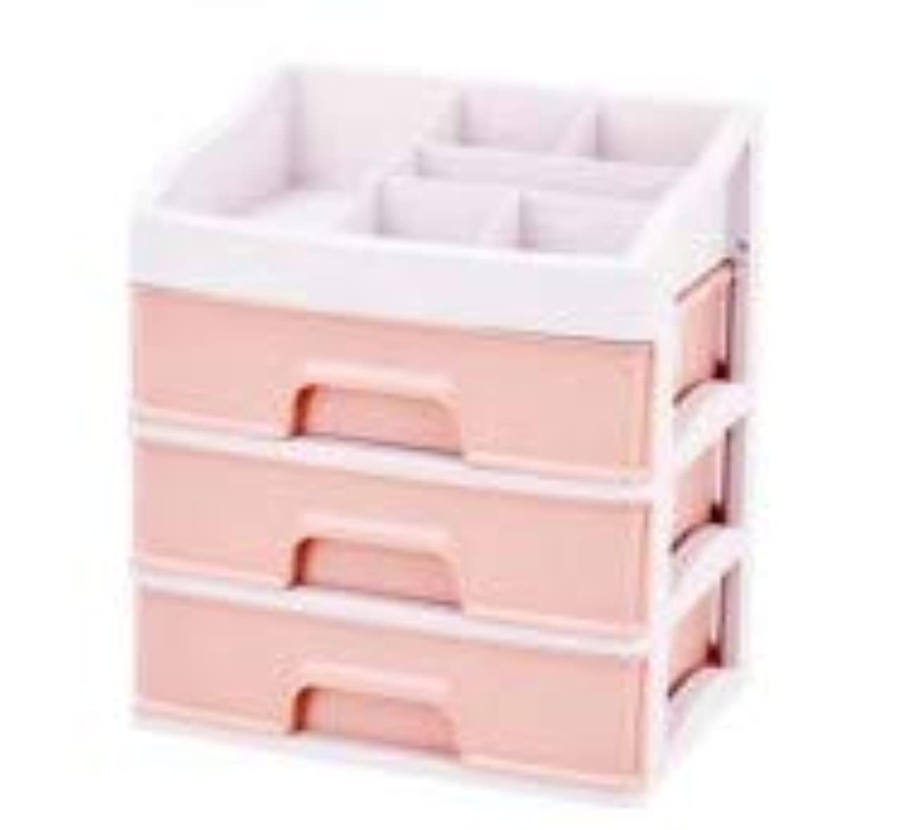 感じ贅沢な慣性化粧品収納ボックス引き出しデスクトップ収納ラック化粧台化粧品ケーススキンケア製品 (Size : L)