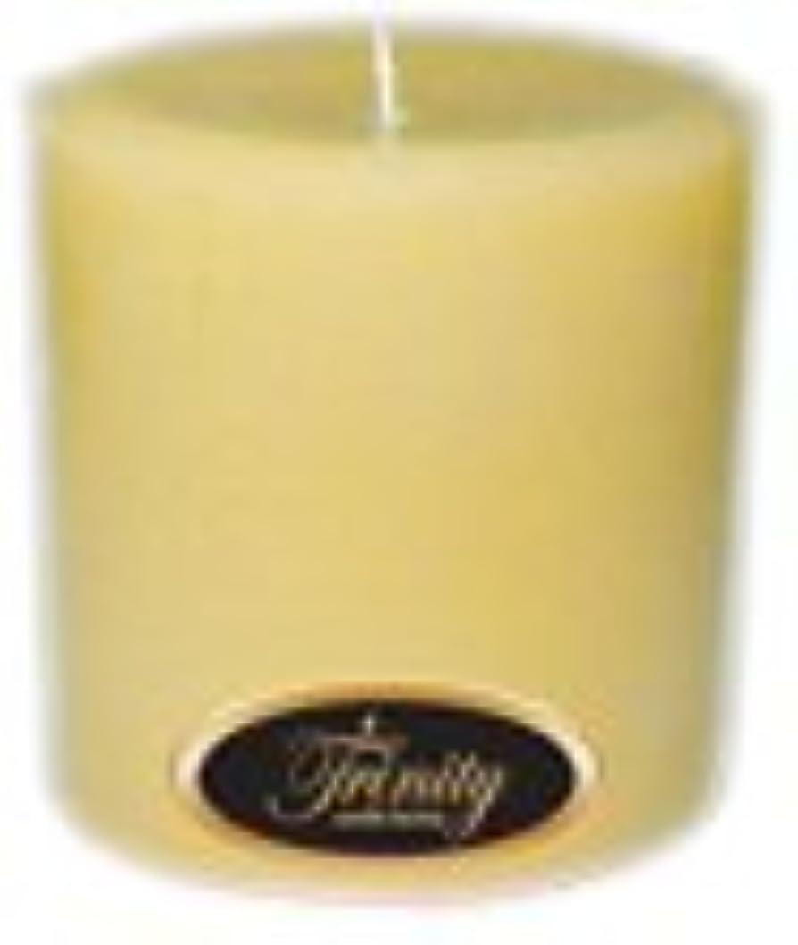 タンパク質楕円形ショートカットTrinity Candle工場 – クリーミーバニラ – Pillar Candle – 4 x 4